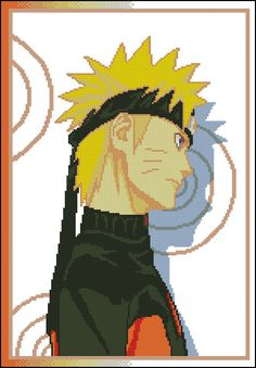 Naruto Anime Cross Stitch Pattern from Ambershore (Part A with Naruto)