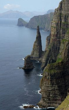 Shear coastal cliffs of the Faroe Islands