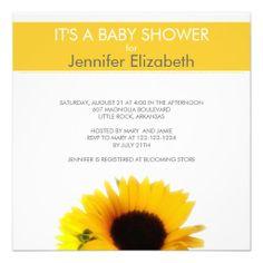 Sunflower Baby Shower Announcement