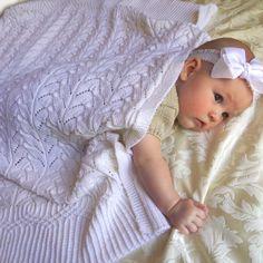 Ravelry: Cathedral Heirloom Baby Blanket pattern by OGE Knitwear Designs