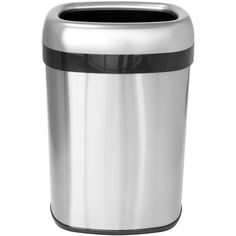 ITouchless 13 Gal. Dual Deodorizer Oval Open Top Stainless Steel Commercial Trash  Can (13 Gallon Trash Can), Silver, Size 10 14 Gallons (Metal)
