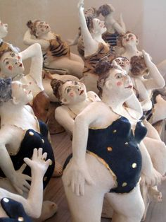 Ceramic artist Michele Anthony brought us into this world with the help of her imagination making us in all shapes and sizes: