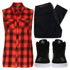 """""""Conjunto #697"""" by laarochaa ❤ liked on Polyvore featuring Topshop, Nobody Denim and Supra"""