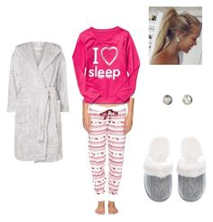 """""""Bed time"""" by jensunicorn on Polyvore featuring P.J. Salvage, Victoria's Secret and Dorothy Perkins"""