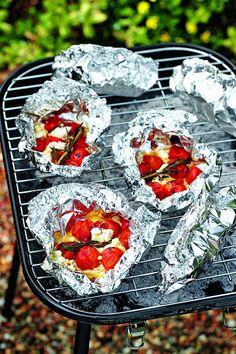 Pakketjes met geroosterde tomaat en feta