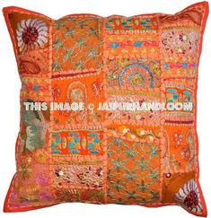 Shop Extra Large Bohemian Floor Cushions in Square Shape Boho Toss Pillows Handmade Embroidered Throw Pillows for Sofa on sale. Toss Pillows, Couch Pillows, Throw Pillow Covers, Accent Pillows, Floor Pillows, Decorative Throw Pillows, Sofa Throw, Bed Couch, Couch Covers