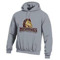 New Mustang Logo Champion Hooded Sweatshirt
