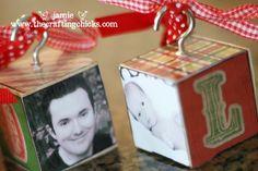 photo wooden block christmas ornament | Found on sistersstuff.blogspot.com
