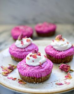Pink Pitaya Cupcakes - Laws of Bliss
