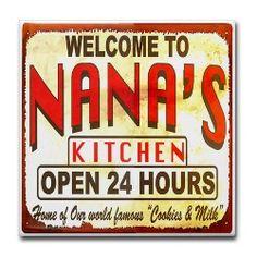 Nana And Papa Wooden Sign, Nana and Papa Zone, Gift For ...