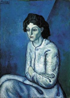 Pablo Picasso: Woman with arms crossed (1901)
