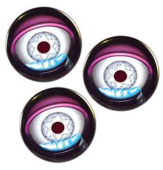 "Valxart 3 Teardrop Eyeballs Halloween Pin-Back Buttons ,Pack-3 Valxart Teardrop Eyeballs Halloween Pin-Back Buttons ,2.25"" 3 Mylar Covered Metal button 2.25 inches with pin-back Printed in brilliant full color and covered by shiny plastic Inspected and polished before being placed in cellophane bag for protection"