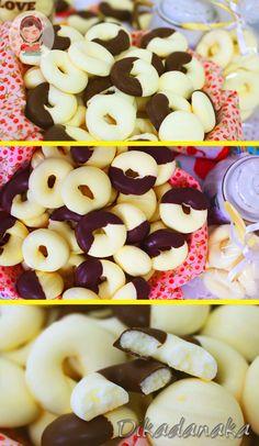 Ingredientes  1 lata de leite condensado ( 395 g) 1 caixa de amido de milho (500 g) 1 xícara (chá) de manteiga 200 g 1 tablete  de chocolate ao leite ou meio amargo (100 g) (opcional)  Rendimento 100 unidades Chocolate Chip Cookies, Doughnut, Coco, Biscuits, Cereal, Chips, Breakfast, Desserts, Green