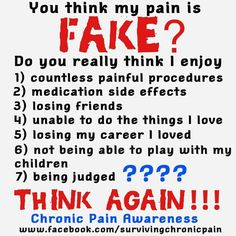 Chronic Pain! God bless those with judgmental ignorance..