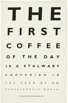 Ulster Weavers Coffee Eye Test Linen Tea Towel