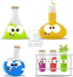 Funny beakers for decor