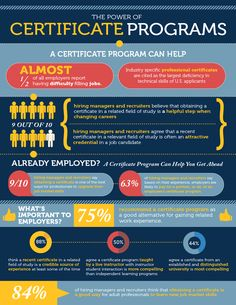 Power of Certificate Programs in the Job Search Market.