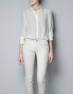 SILK SHIRT - Shirts - Woman - ZARA Denmark