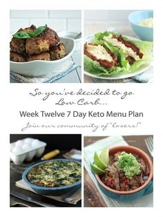 Week Twelve 7 Day Keto Menu Plan - a low carb and gluten free weekly menu from ibreatheimhungry.com