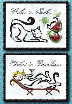 July/August Monthly Britty Kitties - Cross Stitch Pattern