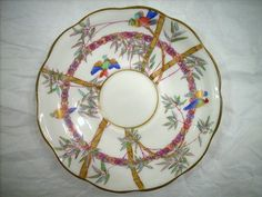 VINTAGE CRESCENT & SONS CHINA ENGLAND SAUCER IN THE FLORIDA PATTERN