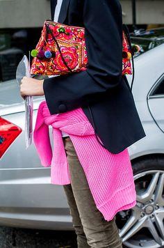 Pink around the waist.