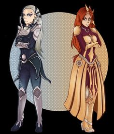 Chillout :: Grumpy girls :: Diana and Leona :: League of Legends