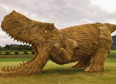 Giant, upcycled rice-straw an...