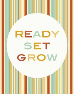 Ready Set Grow nursery art print 8x10 by westeightythird on Etsy, $11.00