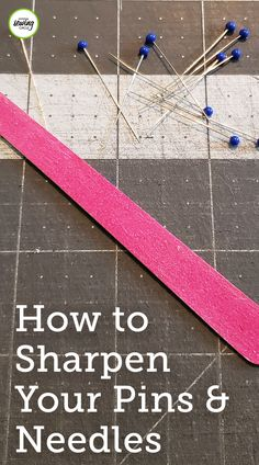 Did you know you can sharpen your scissors and rotary cutters at home with aluminum foil and steel wool? Our friends at National Quilters Circle have some other great ideas for sharpening your seam rippers, needles, and pins! Download our FREE guide now! Diy Sewing Projects, Sewing Tools, Sewing Projects For Beginners, Sewing Tutorials, Sewing Ideas, Sewing Crafts, Sewing Patterns, Quilting Tips, Quilting Projects