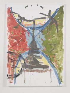 Richard Aldrich Oh, Sister, 2013 Oil, wax, matte medium on cut linen 84 x 58 in / 213.4 x 147.3 cm