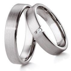 Обручальное кольцо из белого золота с бриллиантом ok1-012 | http://jewellery.spb.ru/