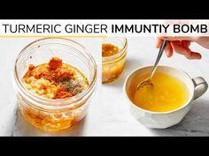 TURMERIC GINGER HONEY BOMB | immunity boosting recipe - YouTube