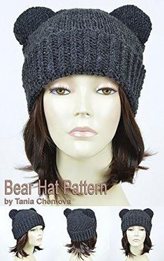 934d113679e Bear Hat Pattern Knit Animal Hat Bonnet Femme Mickey Mouse Hat Bear Beanie  Mickey Ears Womens Hat Disney Ears Beanie Knitting Pattern Beanie With Ears  Bear ...