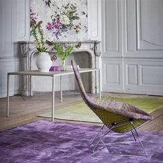 Capisoli Aubergine Rug by Designers Guild
