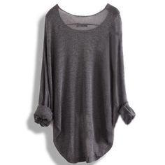 Long-Sleeved Knit Shirt Blouse #GK092401
