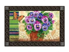 MatMates Welcome Door Mat Inserts With Colorful Spring Themes To Decorate  Your Front Entrance. Outdoor