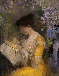 Odilon Redon Madame Arthur Fontaine (Marie... - still life quick heart