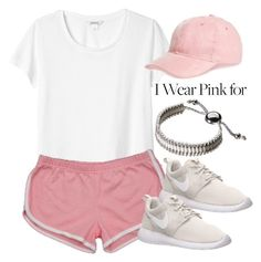 """""""I Wear Pink for..."""" by vany-alvarado ❤ liked on Polyvore featuring Monki, Capelli New York, NIKE, Links of London and IWearPinkFor"""