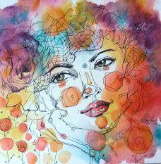 Athena - godess of wisdom Watercolor Face, Watercolor Paintings, Wisdom, Multimedia, Classroom Ideas, Illustration, Artwork, Anime, Faces