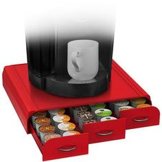 Free 2-day shipping on qualified orders over $35. Buy Coffee Pod Triple Drawer, Red at Walmart.com