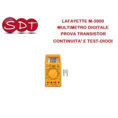 LAFAYETTE M-3900 MULTIMETRO DIGITALE E PROVA TRANSISTOR, CONTINUITA' E TEST-DIODI - S.D.T. srl Unipersonale