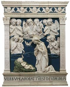 Andrea della Robbia | Nativity, 1479 Glazed terracotta, 240 x 180 cm Chiesa Maggiore, La Verna