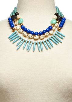 ideeli | OLIVE & WINNIE 3-Layer Multi-Bead Statement Necklace