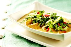 This Thai Coconut Curry Chicken is easier on calories than most