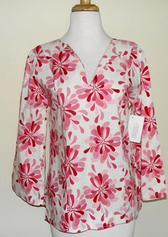 CLEARANCE Ladies Tunic  SH Pink Burst by thomaspark on Etsy, $23.00