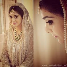 Indian Bridal Makeup - Simple Bridal makeup with Smokey Eyes and Nude Lips   WedMeGood #wedmegood #makeup #smokey #nudelips