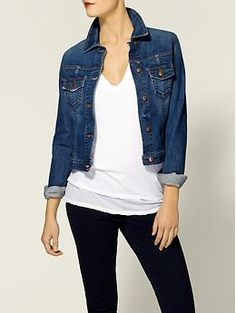 Joe's Jeans Cropped Jacket | Piperlime - I have an obsession with denim jacket. A darker, cropped version would be awesome!