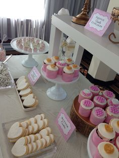 Blush gold and white -️sweet bar -bridal shower - Elegant Bridal Shower, Sweet Bar, Blush And Gold, Candy Buffet, Event Ideas, Cupcakes, Yard, Desserts, Tailgate Desserts