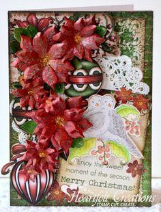 Heartfelt Creations | Festive Christmas Poinsettias